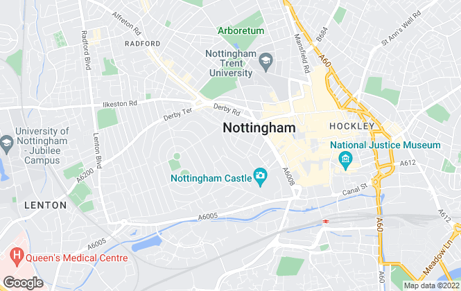 Map for Grove Property Solutions, Nottingham