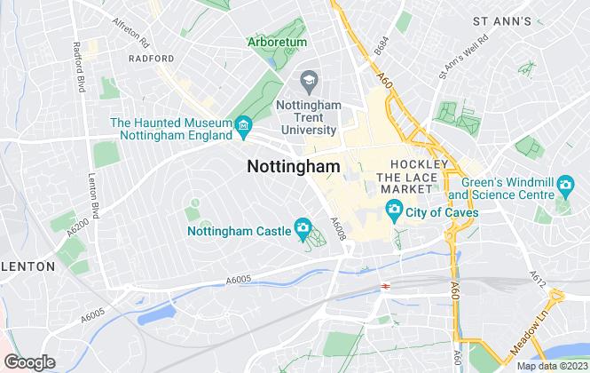 Map for English Homes Ltd, Nottingham