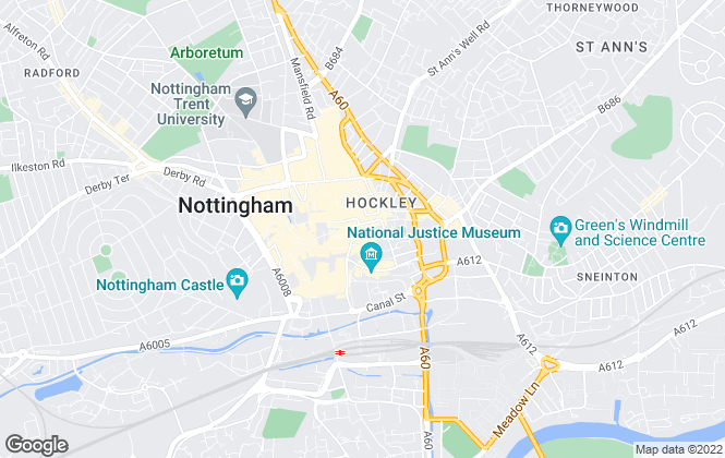 Map for Cavendish Residential, Nottingham - Sales