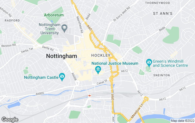 Map for Hectors Lettings and Property Management Ltd, Nottingham