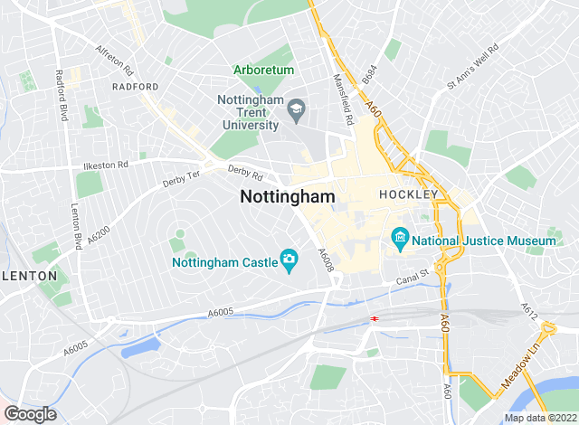 Map for Bairstow Eves, Nottingham Sales