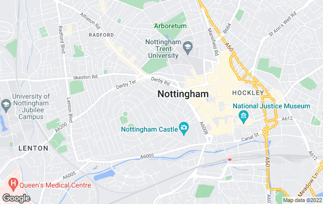 Map for Freeman & Mitchell, Nottingham