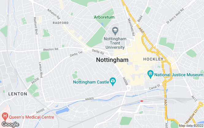 Map for Humberts, Nottingham