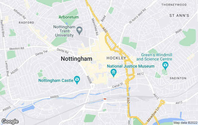 Map for Nottingham Property Services, Central Nottingham