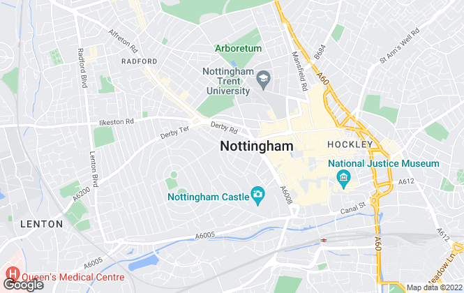 Map for Commercial Property Partners LLP, Nottingham