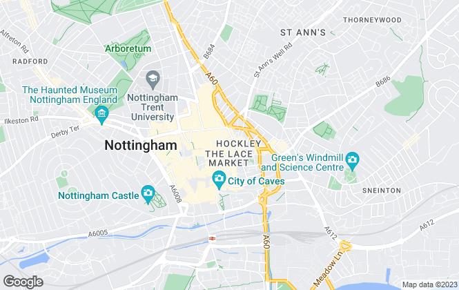 Map for Truelove Property Lettings, Nottingham