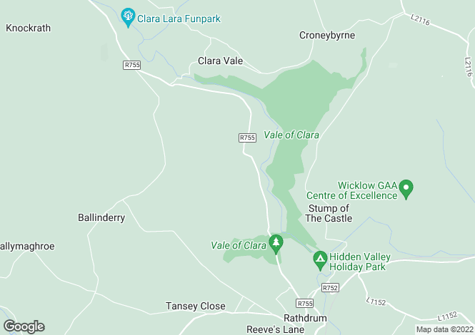 Map for Copse Cottage, Copse, Rathdrum, Wicklow