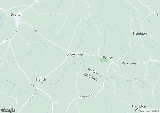 Map for Penley, LL13