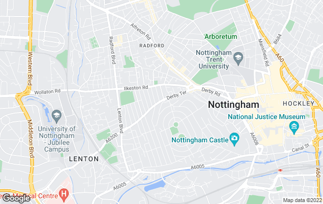 Map for AMS Property, Nottingham