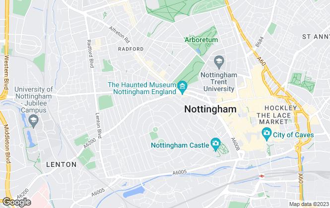 Map for Your Student Hub Ltd, Nottingham