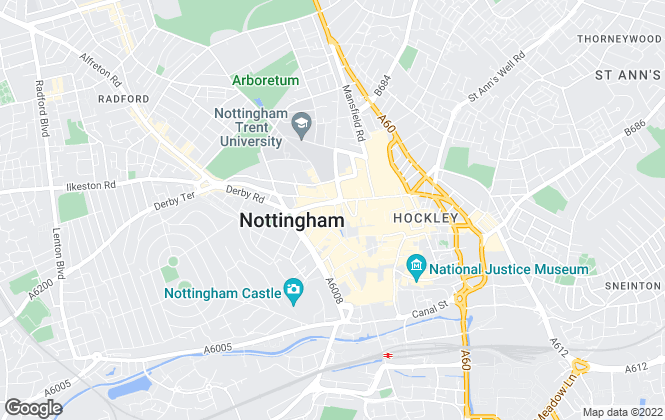 Map for Belvoir, Nottingham Central