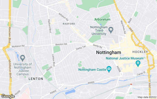 Map for Robins Estates, Nottingham