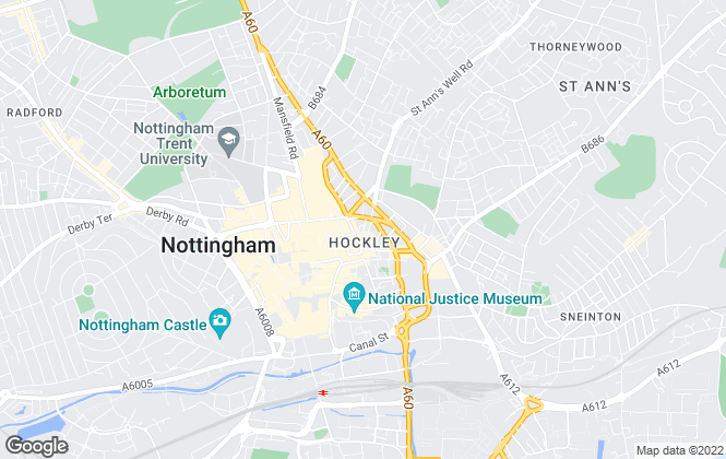 Map for Tassi Sales and Lettings Ltd, Nottingham