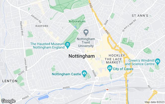 Map for Lambert Smith Hampton, Nottingham