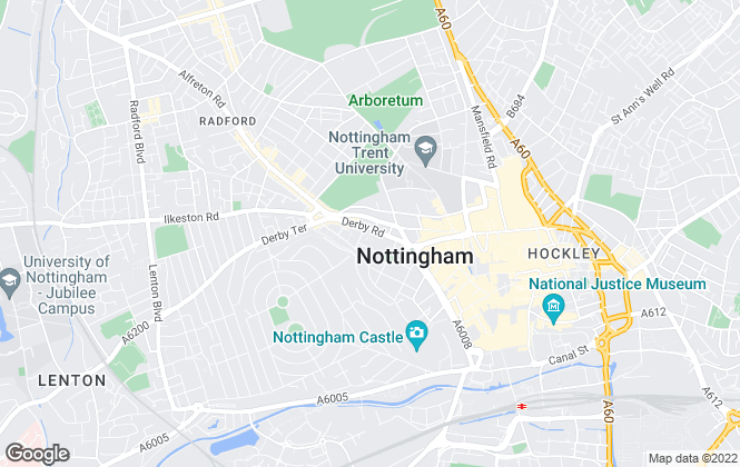 Map for eXp UK, East Midlands