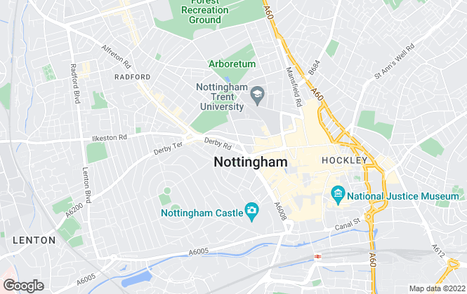 Map for Thomas James Letting & Estate Agent, Nottingham - Lettings