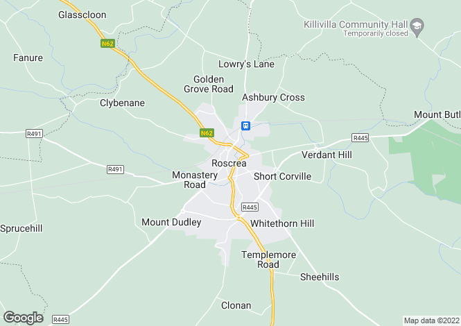 Map for Castle St., Roscrea, Tipperary