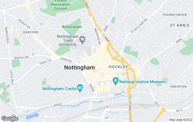 Map for William H. Brown, Nottingham