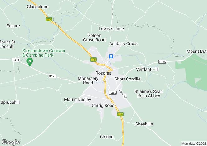 Map for Ballybrack, Roscrea, Tipperary