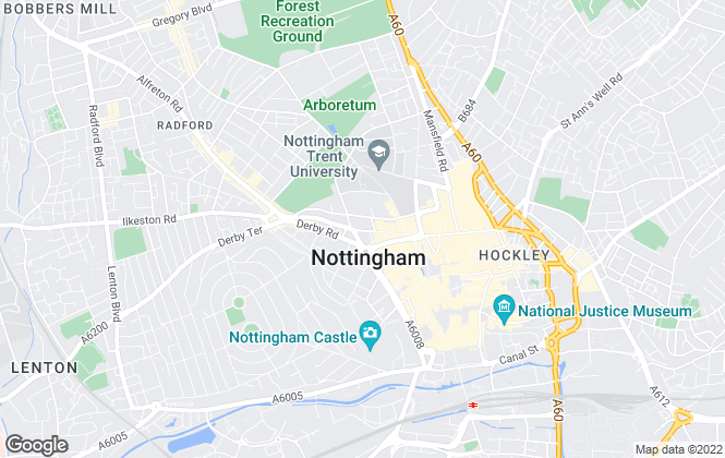 Map for Elitelets Property Services Ltd, Nottingham