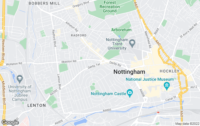 Map for City Lettings, Nottingham