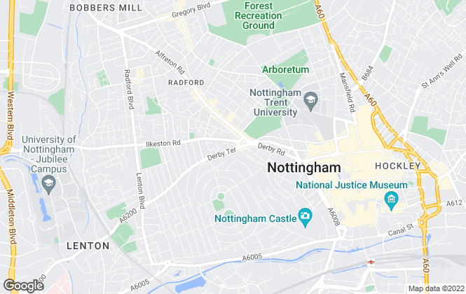 Map for City Sales, Nottingham