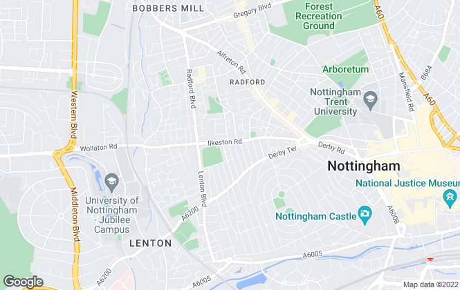 Map for Nottingham Student Lettings, Nottingham