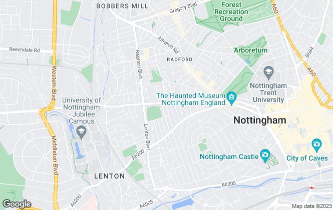Map for ZEBRAlets, Nottingham