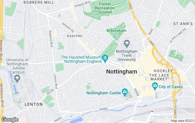 Map for Butterfly Properties Ltd, Nottingham