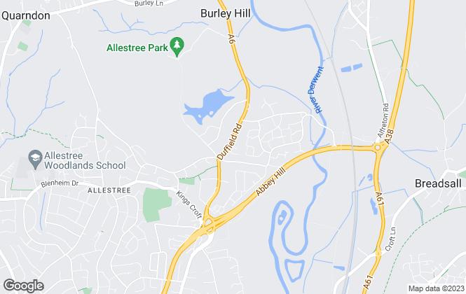 Map for Hannells Estate Agents, Allestree