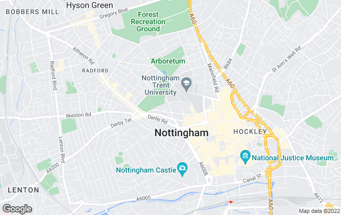 Map for Musson Liggins Limited, Nottingham