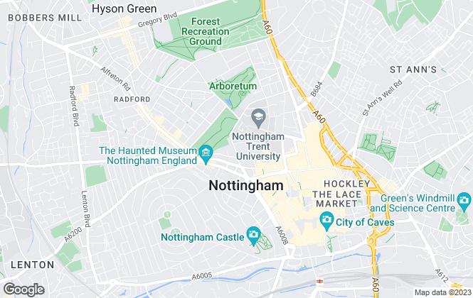 Map for Tassi Lettings Ltd, Nottingham