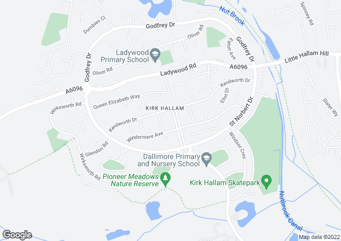 Map for Depedale Avenue, Kirk Hallam, Ilkeston, Derbyshire