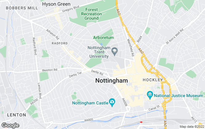 Map for Sherwood Sales & Lettings Ltd , Nottingham