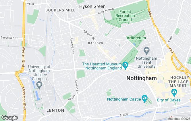 Map for Leaworks Ltd, Nottingham