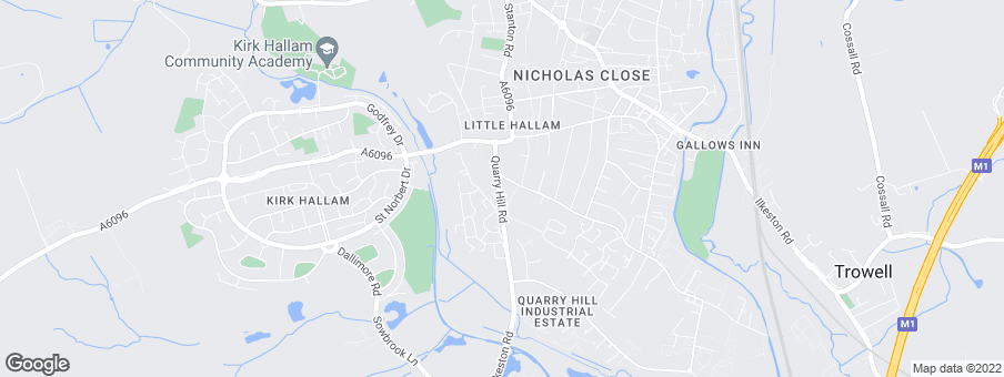 Map for Persimmon Homes Nottingham