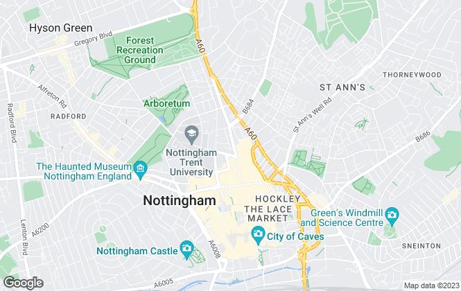 Map for Megaclose Ltd , Nottingham