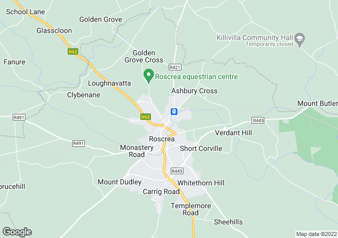 Map for 40 Railway View, Roscrea, Tipperary