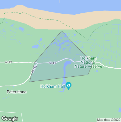 Map of property in Holkham