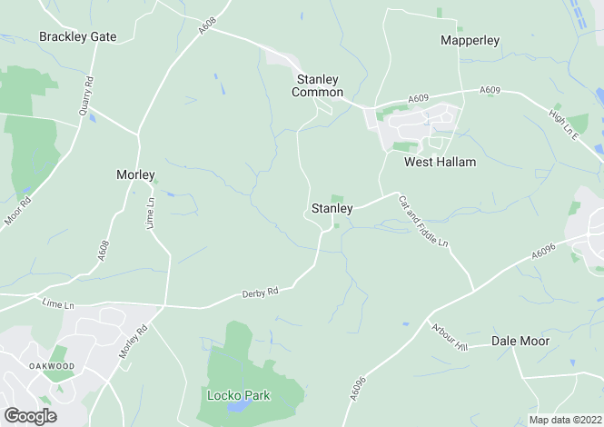 Map for 30 Morley Lane, Stanley Village, Derbyshire, DE7 6EZ
