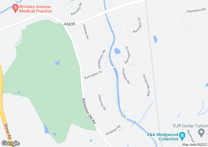 Map for MOWBRAY, BURRINGTON DRIVE, TRENTHAM, STOKE-ON-TRENT