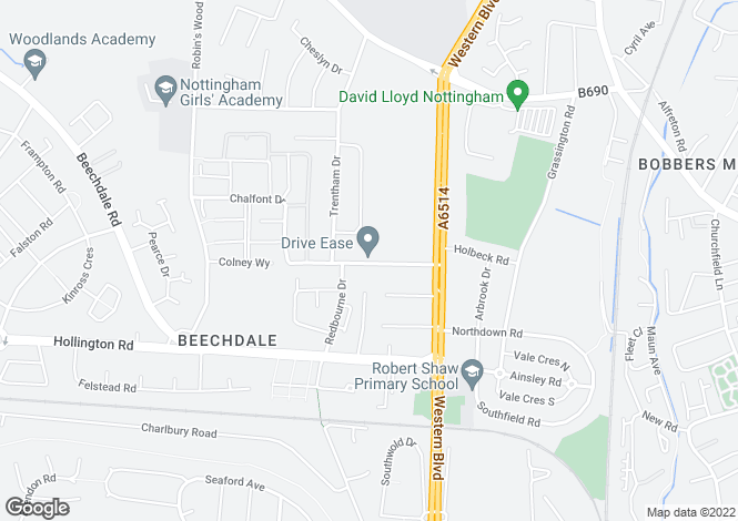 Map for Chalfont Drive, Aspley, Nottinghamshire