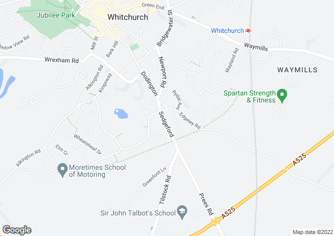 Map for Westgate, Sedgeford, Whitchurch, Whitchurch