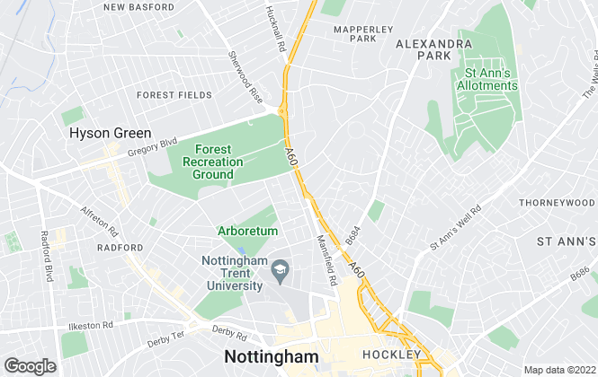 Map for Student Living (Nottingham) Ltd, Nottingham