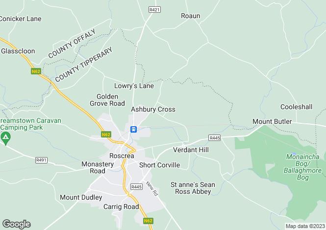 Map for 1 Legion Villas, Ashbury, Roscrea, Tipperary