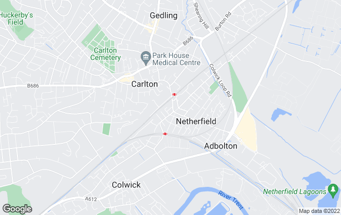 Map for Nottingham Property Services, Netherfield