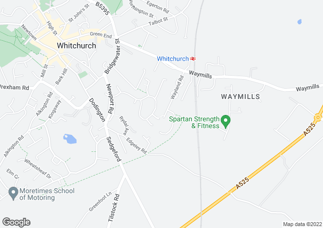 Map for Wayland Road, Whitchurch