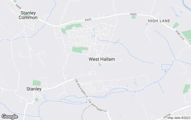 Map for Margi Willis Estates, West Hallam
