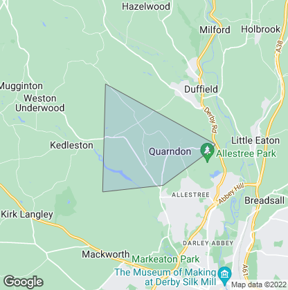 Map of property in Quarndon