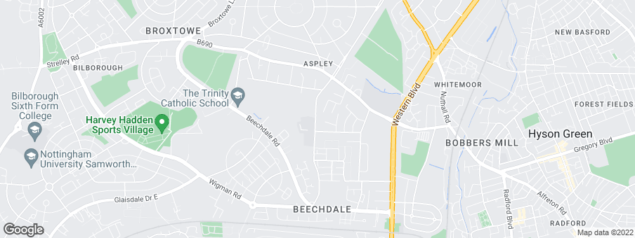 Map for Ashberry Homes (West Midlands)